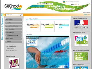 Thumbnail do site Site officiel de la Ville de <b>Seynod</b>