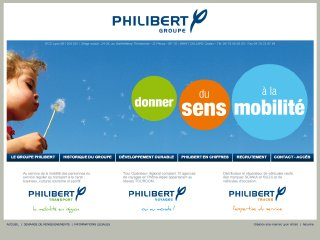 Thumbnail do site Philibert Transport