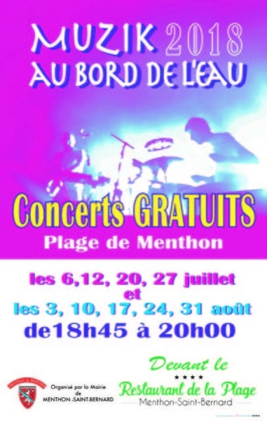 Plage de Menthon - 470 Route de la Plage, 74290 Menthon-Saint-Bernard, Vendredi 10 août 2018
