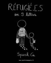 affiche 'Réfugié.e.s en neuf lettres'