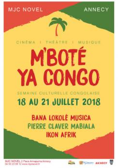 affiche M'boté ya Congo : Semaine culturelle congolaise