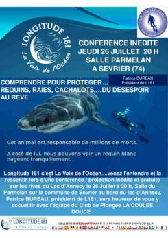 affiche 'Requins, raies, cachalots... du désespoir au rêve'