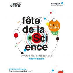 affiche Fête de la Science 'Raconter la science, imaginer l'avenir'